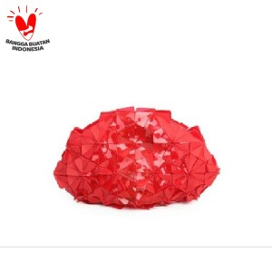Byo Shell Clutch in Balado Red