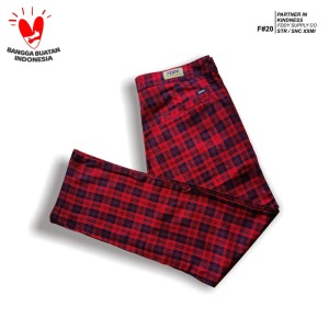 fruddy duddy - fddy - tartan - pants - red basic