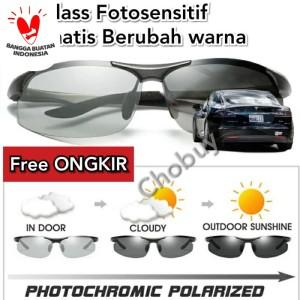 Kacamata sunglass polarized fotosensitif berubah warna pria wanita