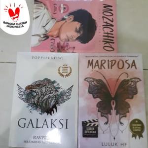 Paket 3 Novel BEST SELLER - MARIPOSA - GALAKSI - MOZACHIKO