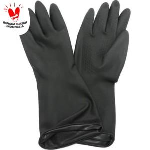 Kenmaster Sarung Tangan Karet Hitam - Latex Hand Gloves