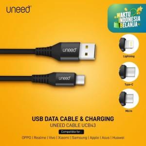 UNEED Nylon Braided Kabel Data Type C, Micro USB, Lightning - UCB43 - Type C