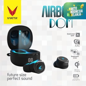 Airboom Dom TWS Bluetooth Earphone QCC Aptx - Auto Pairing, Wireless