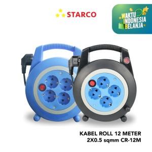 Starco Kabel Roll 12 Meter 2 x 0.5 sqmm CR-12M - Hitam