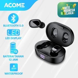Acome Headset Bluetooth 5.0 TWS LED Airdots T1 Garansi Resmi 1 Tahun