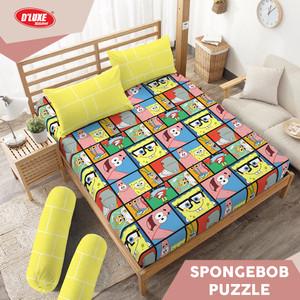 Sprei Queen 160 Spongebob Puzzle Kintakun Dluxe Microfiber (5in1) 20
