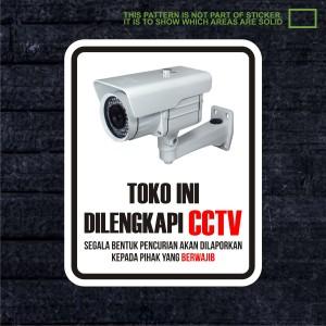 WSKPC005 Sticker Safety Sign Warning Sign Toko CCTV Kantin Kedai
