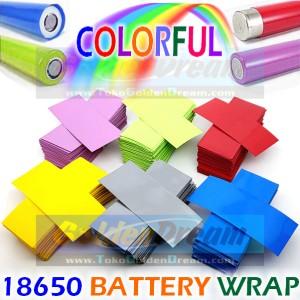 Color Battery Wrap 18650 Plastik Baterai Jaket Plastic Skin PVC Jacket