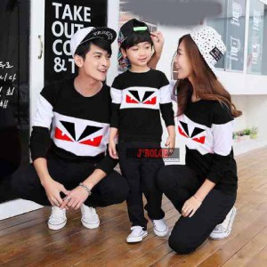 Hoodie Family Couple / Sweater Baju Pasangan Eye Black 10330