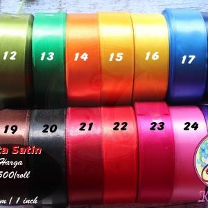 Pita Satin 1 Inch (2,5cm) warna kedua per roll