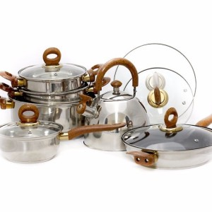 Panci Stainless + Teko Vicenza V812 / Stainless Cookware Vicenza
