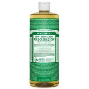 [ 32 Oz ] Dr. Bronner's Magic Soap Almond Pure Castile Soap