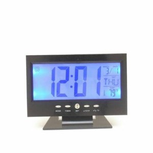 jam digital + temperature + alarm sensor gerak dinding & meja 8082