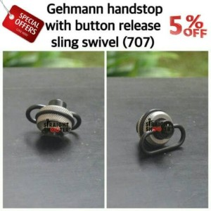 Gehmann Handstop with button release sling swivel