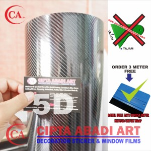 STICKER / STIKER CARBON FIBER 5D SUPER GLOSSY