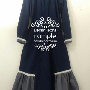 Produksi Baju Muslim syari CO 919651 Denim jeans premium