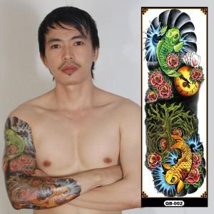 Tato/Tatto temporary/Tatto full lengan/17x46 cm QB002