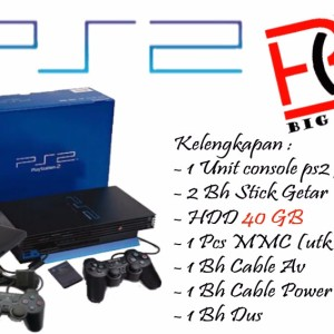 Sony Playstation 2 / PS2FAT / PS 2 Hdd 40Gb - Full Games Lengkap Murah