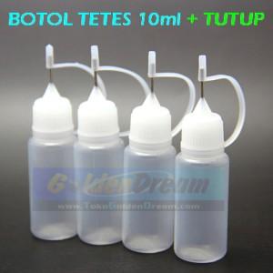 Botol Tetes 10ml + Tutup Needle Dropper Bottle RDA RBA 10 ml Liquid