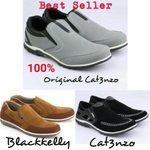 Sepatu Slip On Casual Pria Abu Catenzo - SD 008