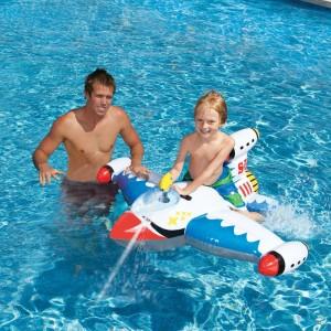 Pelampung Renang Anak Model Pesawat Pistol Air intex ( Ban Tunggang )