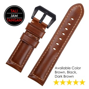Italian Genuine Leather Oily Strap Tali Jam Tangan Kulit Asli Italia