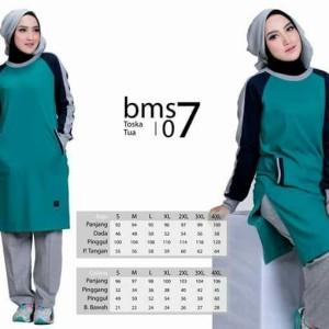 Baju Olah Raga Muslim BMS 07 Tosca