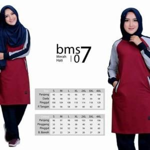 Baju Olah Raga BMS 07 Merah Hati