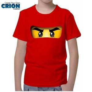 Kaos Lego Ninjago Anak - Kai Face - By Crion
