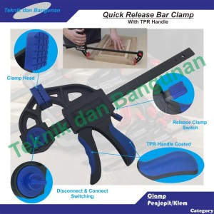 """6"""" Quick Release Bar Clamp TPR Handle"""