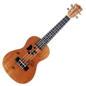 Ukulele Concerto Impor BONUS Strap & Pick Motif Panda UT-101-P