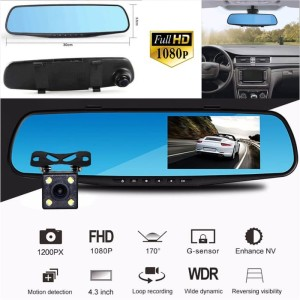 Spion Kamera Mobil Dashboard Cam Vehicle Car LCD Monitor Rear Camera