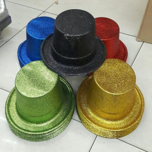 Topi Sulap Glitter Warna