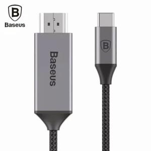BASEUS Nylon Braided 1.8M Type C Male To HDMI 4K Original