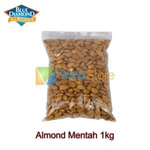 Kacang Almond Mentah Kupas Utuh Raw Whole Blue Diamond 1kg