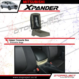 armrest tangan / console box beige otoproject mitsubisi xpander