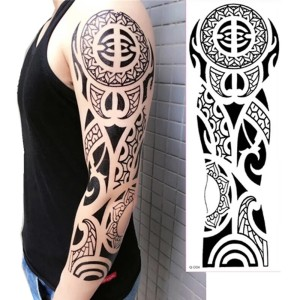Tato/Tatto temporary/Tatto full lengan/17x46 cm TB011
