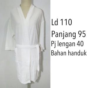 handuk kimono mandi dewasa putih renang