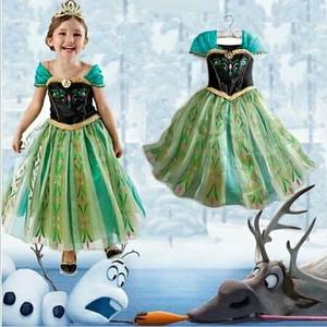 Jual Beli Dress Baju Anna Frozen / Gaun Anna Frozen Bagus Import 207