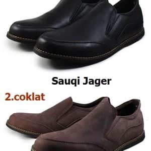 Sepatu Casual Slop Sauqi Jager Brown Pria Formal Kerja