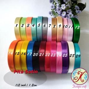 Pita Satin 1/2 Inch / 1,2 cm per roll Warna Kedua