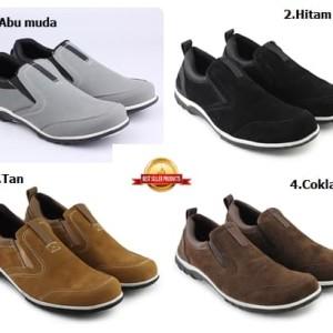 Sepatu Casual Slip On Slop Pria Sepatu Walkers Model Catenzo Suede