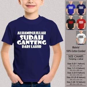 Kaos Anak Tumblr SN-ASKTKT015 ALHAMDULILLAH SUDAH GANTENG DARI LAHIR