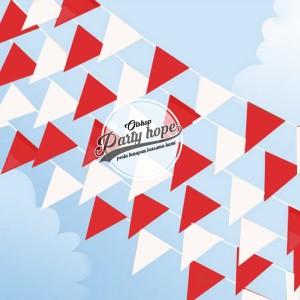bunting flag HUT / bendera merah putih / bendera umbul umbul karnaval