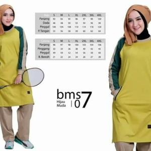 Baju Olah Raga Muslim BMS 07 Hijau muda