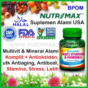 Nutrimax Complete Multivitamins & Minerals isi 30 Multivitamin Mineral