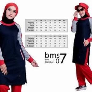 Baju Olah Raga BMS 07 Navy