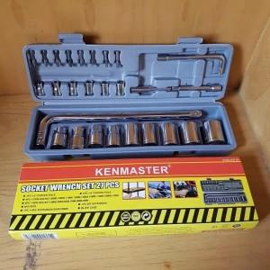 Kunci sok set 27 pc / Kunci Socket 27pc KENMASTER. Tool Kit. ORIGINAL