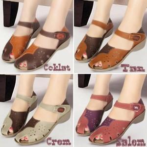 Sepatu Wanita Premium Wedges Mulan 1221