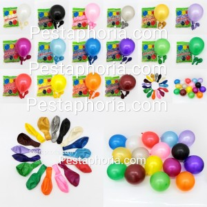 Balon Latex Metalik 12 inch Grosir isi 100 pcs / pack